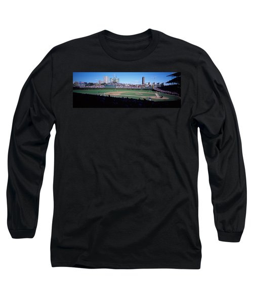 Baseball Match In Progress, Wrigley Long Sleeve T-Shirt by Panoramic Images