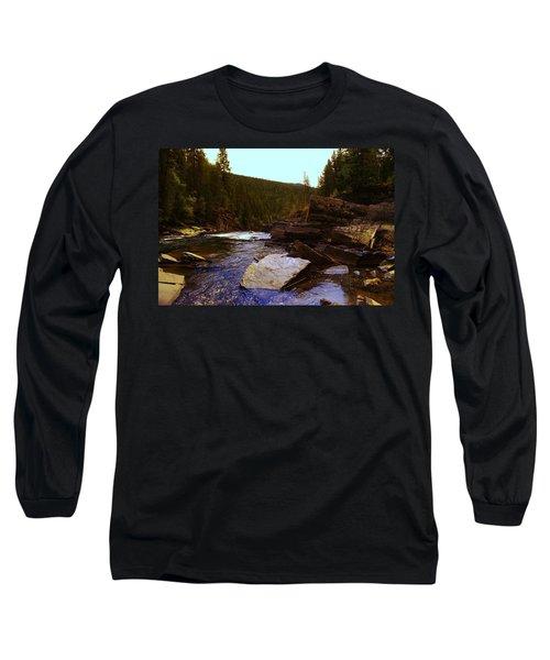 Beautiful Yak River Montana Long Sleeve T-Shirt by Jeff Swan