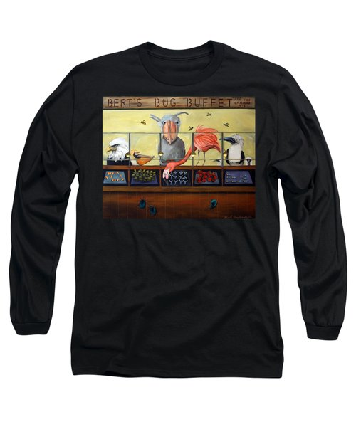 Bert's Bug Buffet Long Sleeve T-Shirt by Leah Saulnier The Painting Maniac