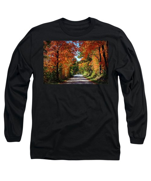 Blaze Of Glory Long Sleeve T-Shirt by Cricket Hackmann