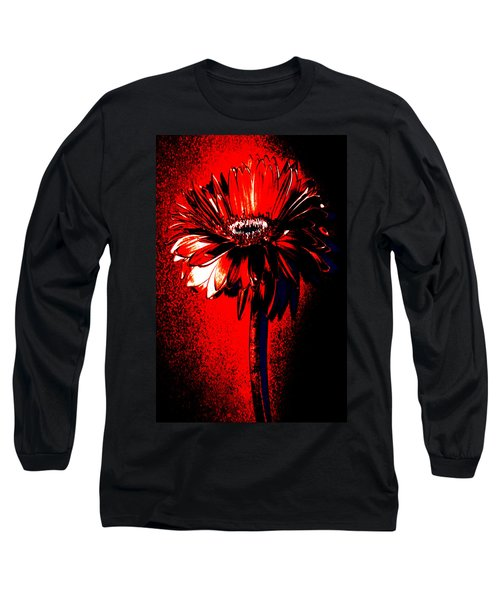 Bloody Mary Zinnia Long Sleeve T-Shirt by Sherry Allen