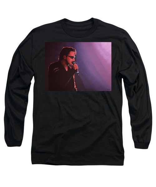 Bono U2 Long Sleeve T-Shirt by Paul Meijering