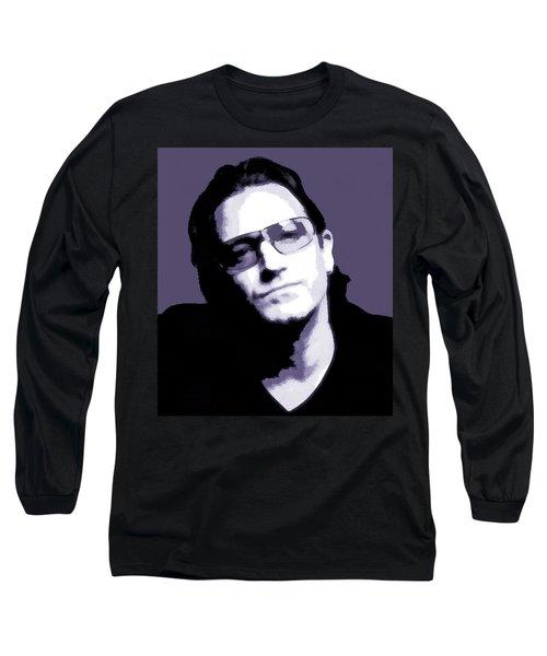 Bono Portrait Long Sleeve T-Shirt by Dan Sproul