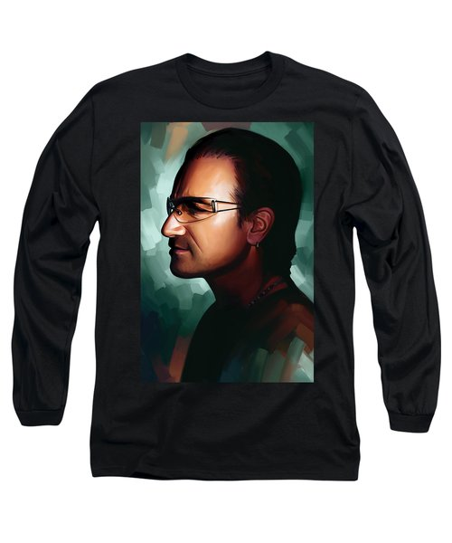 Bono U2 Artwork 1 Long Sleeve T-Shirt by Sheraz A
