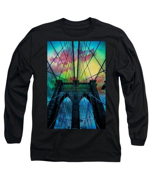 Psychedelic Skies Long Sleeve T-Shirt by Az Jackson