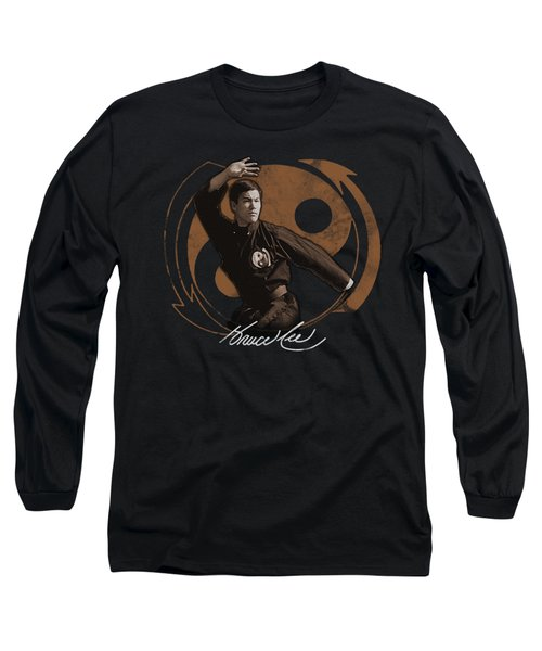 Bruce Lee - Jeet Kun Do Pose Long Sleeve T-Shirt by Brand A