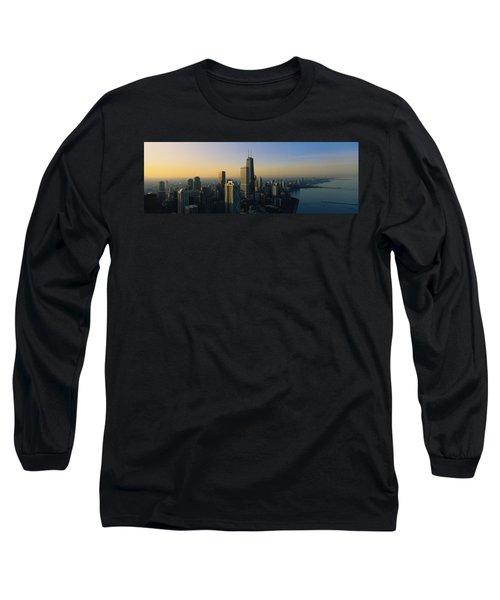 Buildings At The Waterfront, Chicago Long Sleeve T-Shirt by Panoramic Images