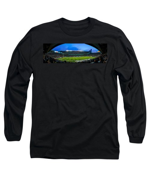Chicago Bears At Soldier Field Long Sleeve T-Shirt by Steve Gadomski