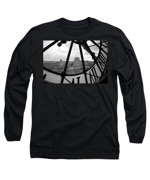 Clock At Musee D'orsay Long Sleeve T-Shirt by Chevy Fleet