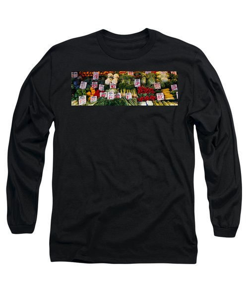 Close-up Of Pike Place Market, Seattle Long Sleeve T-Shirt by Panoramic Images