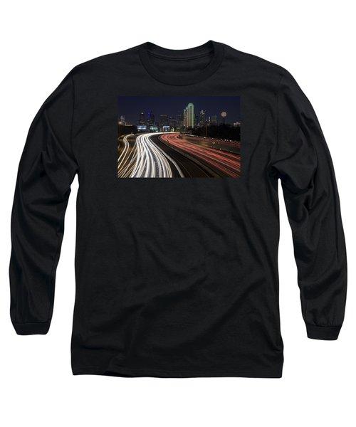 Dallas Night Long Sleeve T-Shirt by Rick Berk