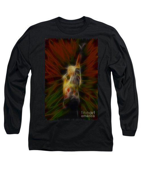 Def Leppard-adrenalize-joe-gb22-fractal Long Sleeve T-Shirt by Gary Gingrich Galleries