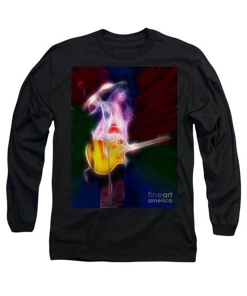 Deff Leppard-adrenalize-joe-gf25-fractal Long Sleeve T-Shirt by Gary Gingrich Galleries