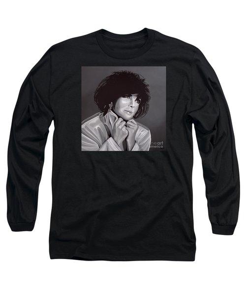 Elizabeth Taylor Long Sleeve T-Shirt by Paul Meijering