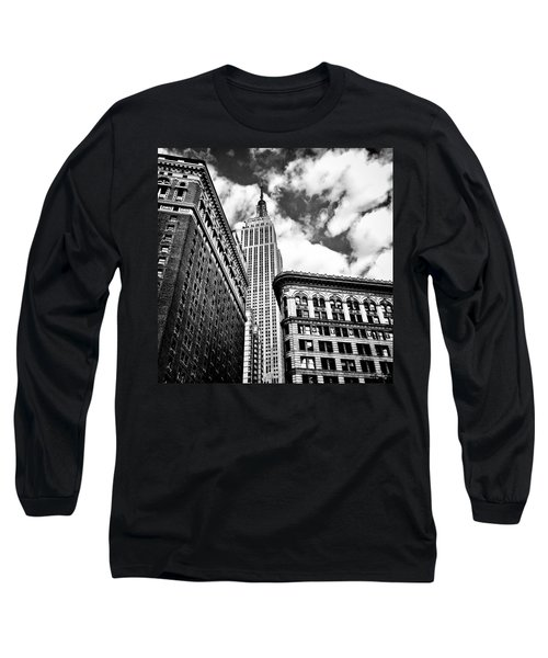 Empire State Building And New York City Skyline Long Sleeve T-Shirt by Vivienne Gucwa