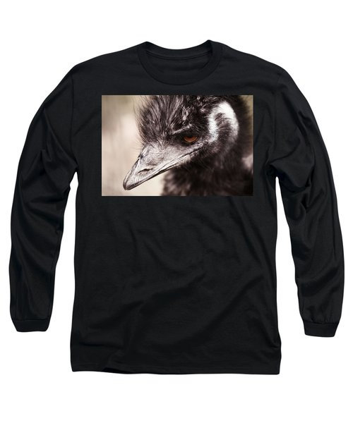 Emu Closeup Long Sleeve T-Shirt by Karol Livote