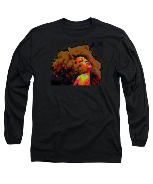 Erykah Badu Long Sleeve T-Shirt by  Fli Art