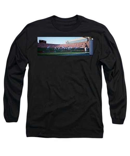 Football Game, Soldier Field, Chicago Long Sleeve T-Shirt by Panoramic Images