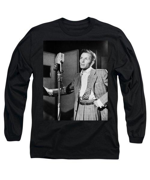 Frank Sinatra Long Sleeve T-Shirt by Mountain Dreams