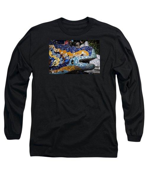 Gaudi Dragon Long Sleeve T-Shirt by Joan Carroll