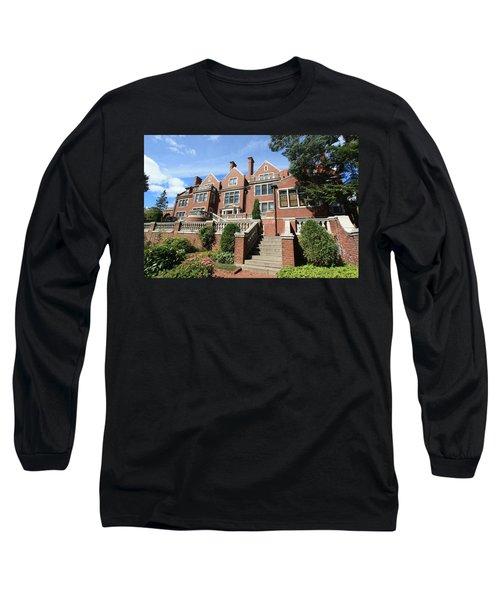 Glensheen Mansion Exterior Long Sleeve T-Shirt by Amanda Stadther