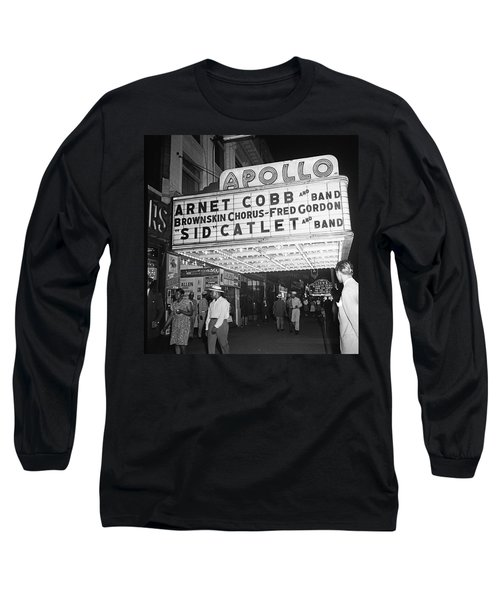 Harlem's Apollo Theater Long Sleeve T-Shirt by Underwood Archives Gottlieb
