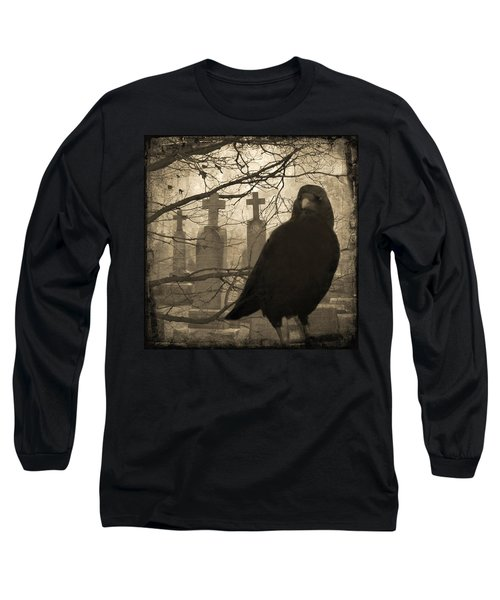 Her Graveyard Long Sleeve T-Shirt by Gothicrow Images