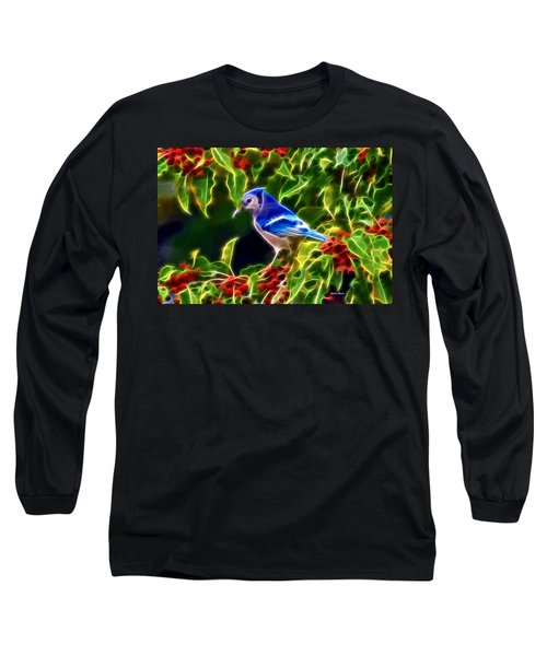 Hiding In The Berries Long Sleeve T-Shirt by Stephen Younts