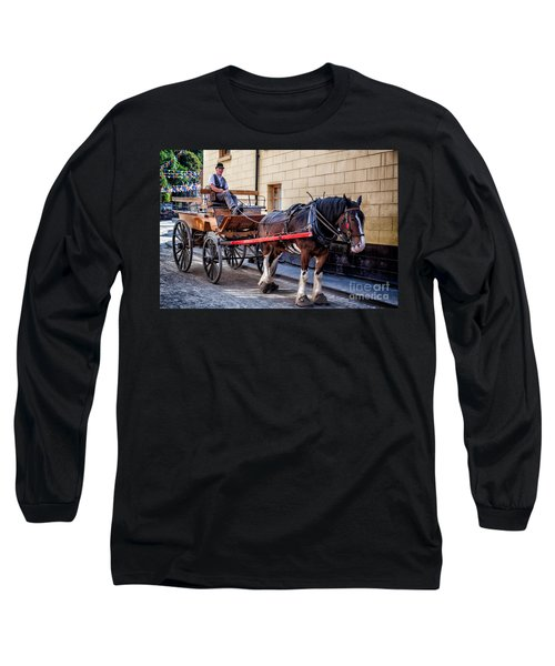 Horse And Cart Long Sleeve T-Shirt by Adrian Evans