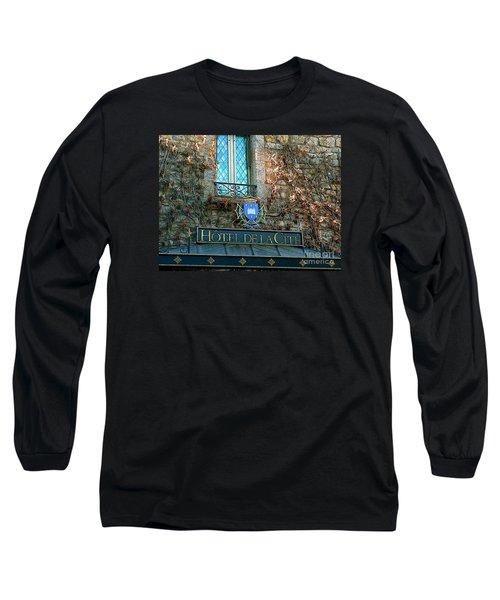 Hotel De La Cite Long Sleeve T-Shirt by France  Art