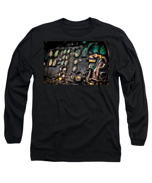 Huey Instrument Panel Long Sleeve T-Shirt by David Morefield