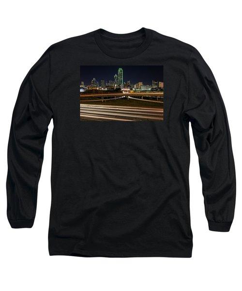 I-35e Dallas Long Sleeve T-Shirt by Rick Berk