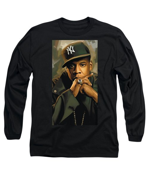 Jay-z Artwork 2 Long Sleeve T-Shirt by Sheraz A