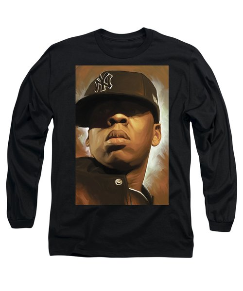 Jay-z Artwork Long Sleeve T-Shirt by Sheraz A