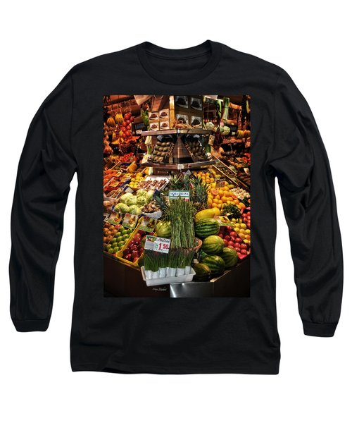 Jewels From The Market  Long Sleeve T-Shirt by Mary Machare