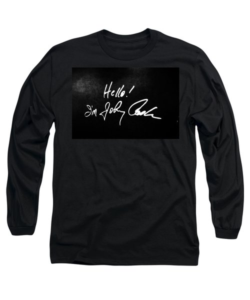 Johnny Cash Museum Long Sleeve T-Shirt by Dan Sproul