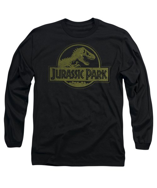 Jurassic Park - Distressed Logo Long Sleeve T-Shirt by Brand A