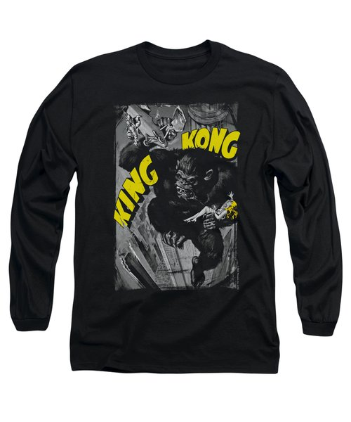 King Kong - Crushing Poster Long Sleeve T-Shirt by Brand A