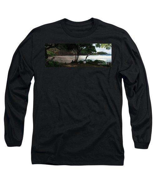 Koki Beach Hana Maui Hawaii Long Sleeve T-Shirt by Sharon Mau