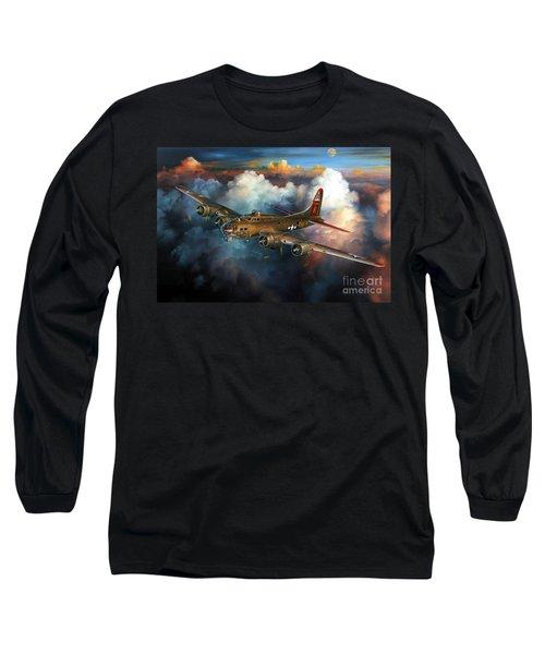 Last Flight For Nine-o-nine Long Sleeve T-Shirt by Randy Green