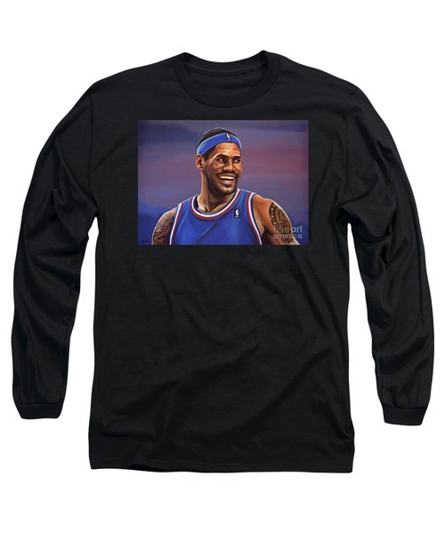 Lebron James  Long Sleeve T-Shirt by Paul Meijering