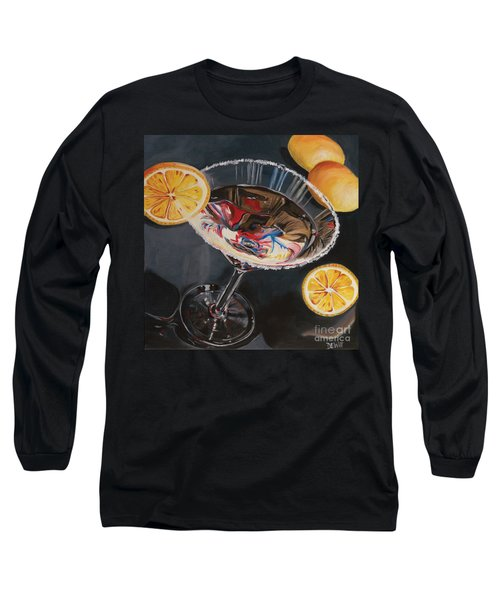 Lemon Drop Long Sleeve T-Shirt by Debbie DeWitt