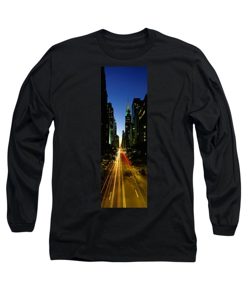 Lexington Avenue, Cityscape, Nyc, New Long Sleeve T-Shirt by Panoramic Images
