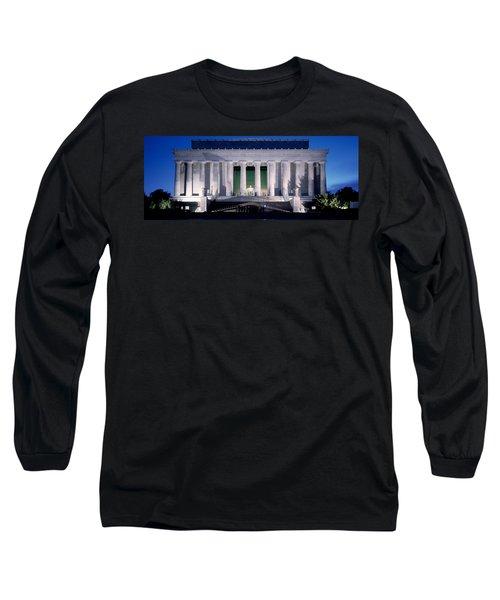 Lincoln Memorial At Dusk, Washington Long Sleeve T-Shirt by Panoramic Images