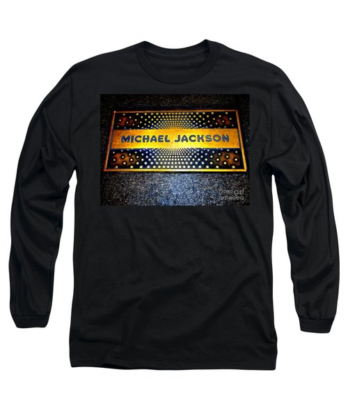 Michael Jackson Apollo Walk Of Fame Long Sleeve T-Shirt by Ed Weidman