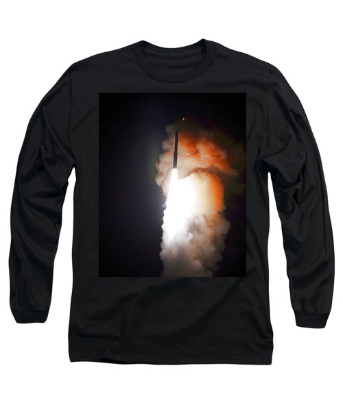 Long Sleeve T-Shirt featuring the photograph Minuteman IIi Missile Test by Science Source