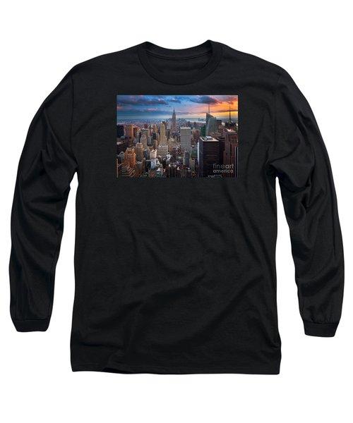 New York New York Long Sleeve T-Shirt by Inge Johnsson