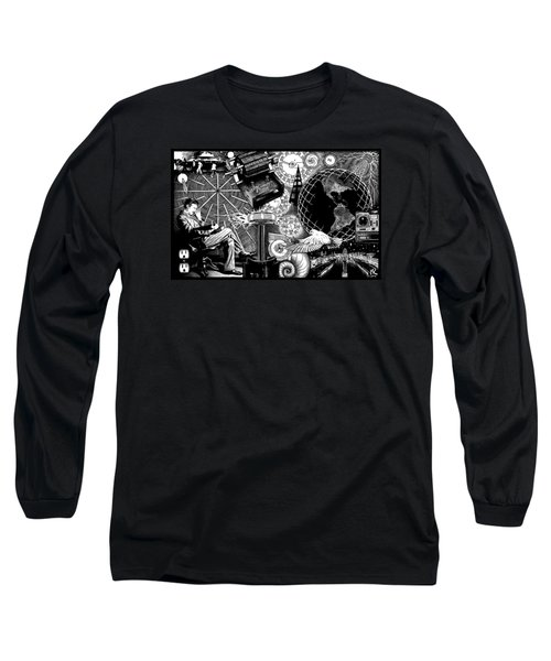 Tesla Long Sleeve T-Shirt by Matthew Ridgway