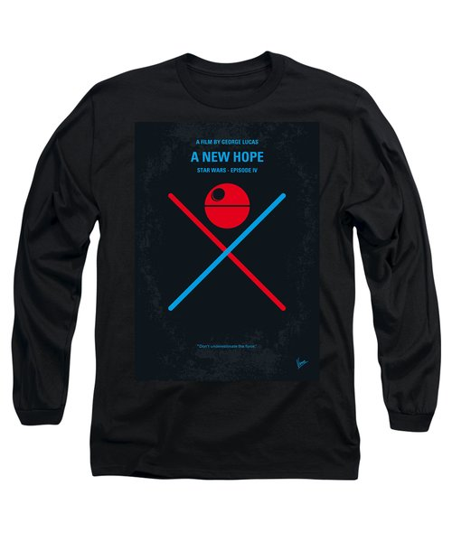 No154 My Star Wars Episode Iv A New Hope Minimal Movie Poster Long Sleeve T-Shirt by Chungkong Art