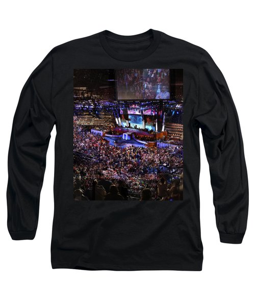 Obama And Biden At 2008 Convention Long Sleeve T-Shirt by Stephen Farley